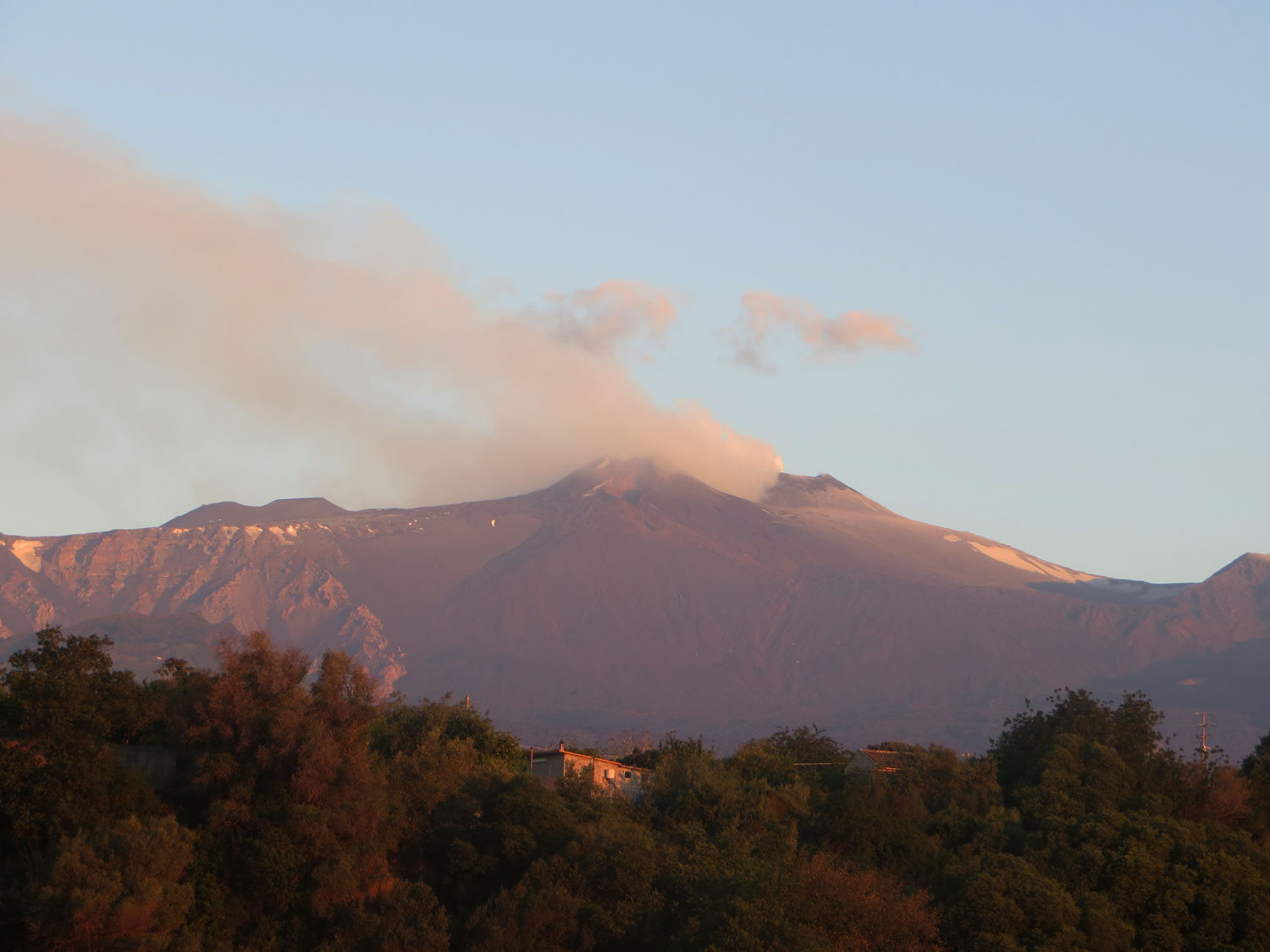 View of the Mount Etna (the morning after)