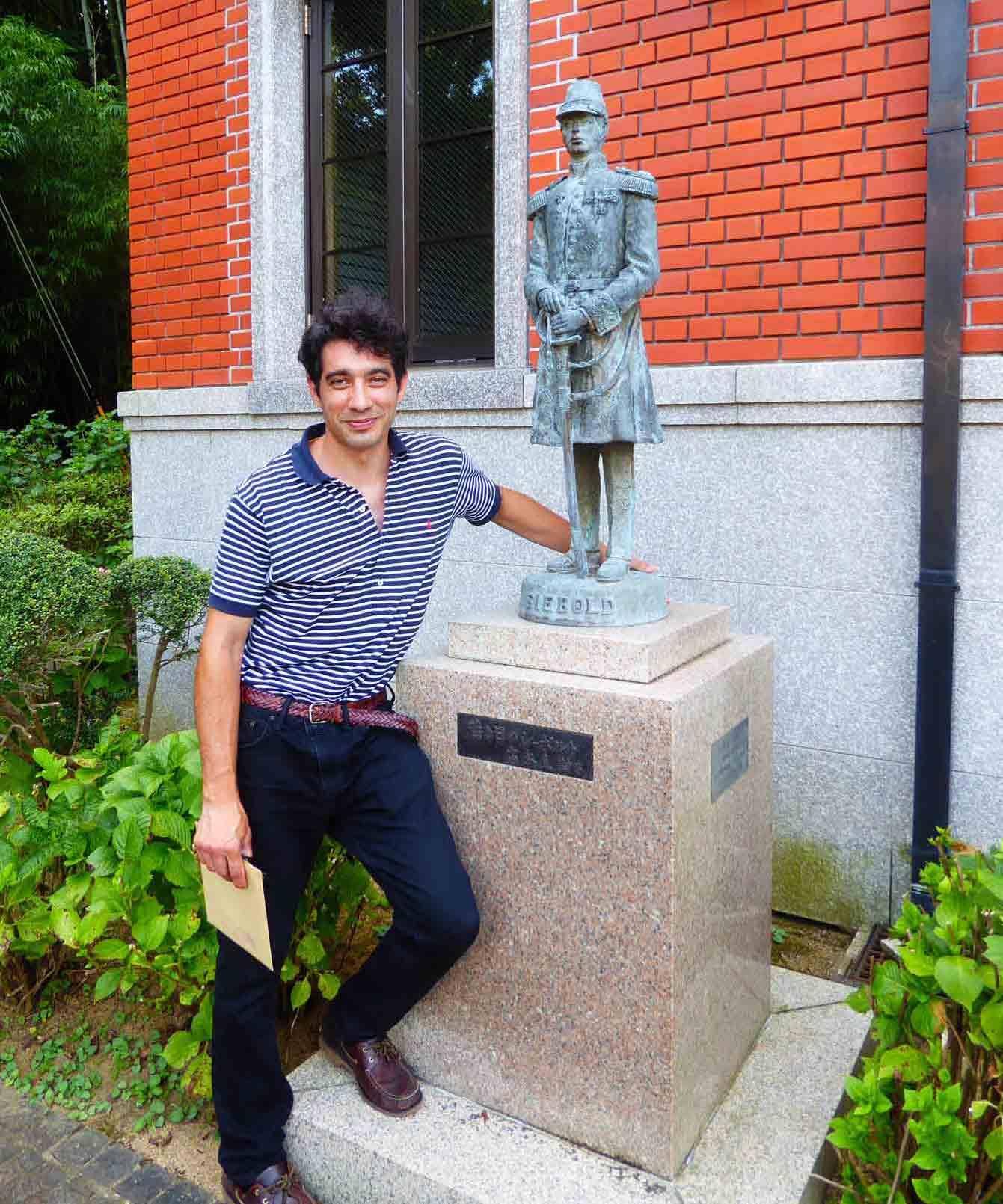 Questo sono io durante una visit a Siebold Memorial Museum, alla periferia di Nagasaki.