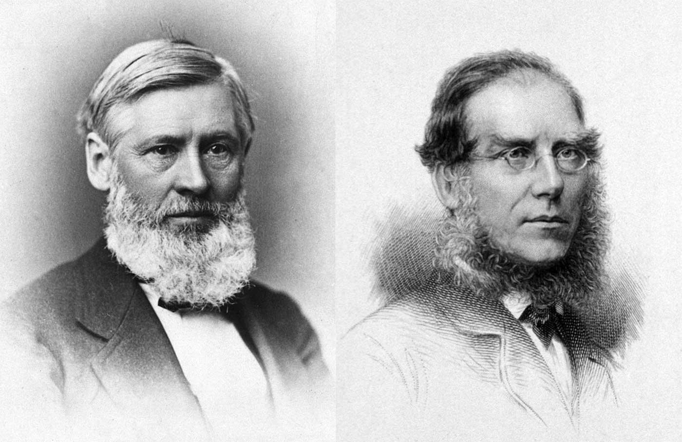 Asa Gray e William Dalton Hooker, due grandi sistematizzatori botanici del loro tempo.