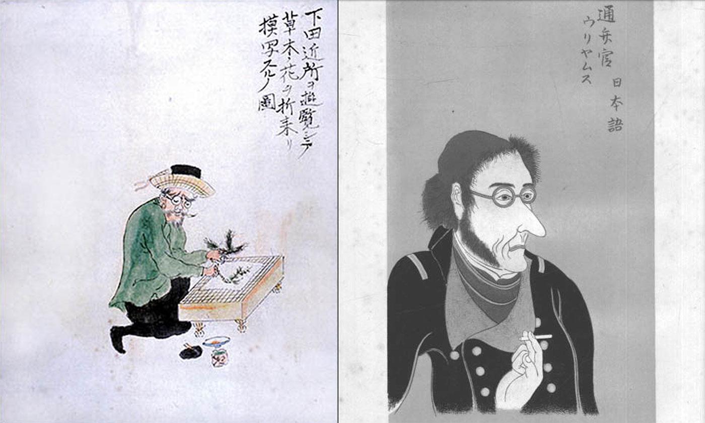 Gli stessi personaggi, secondo il pennello di un artista giapponese.