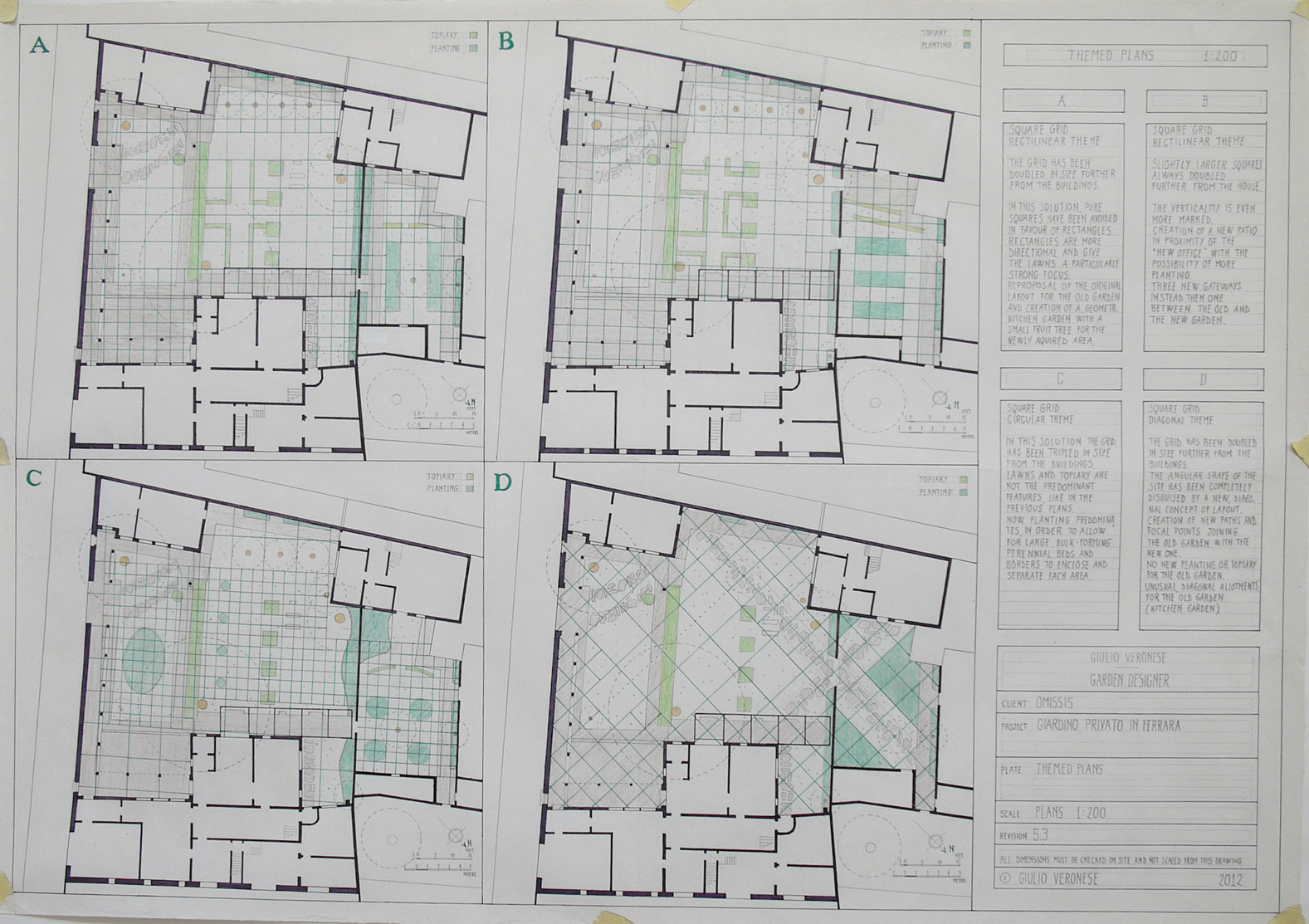 Plate 5 - Themed plans