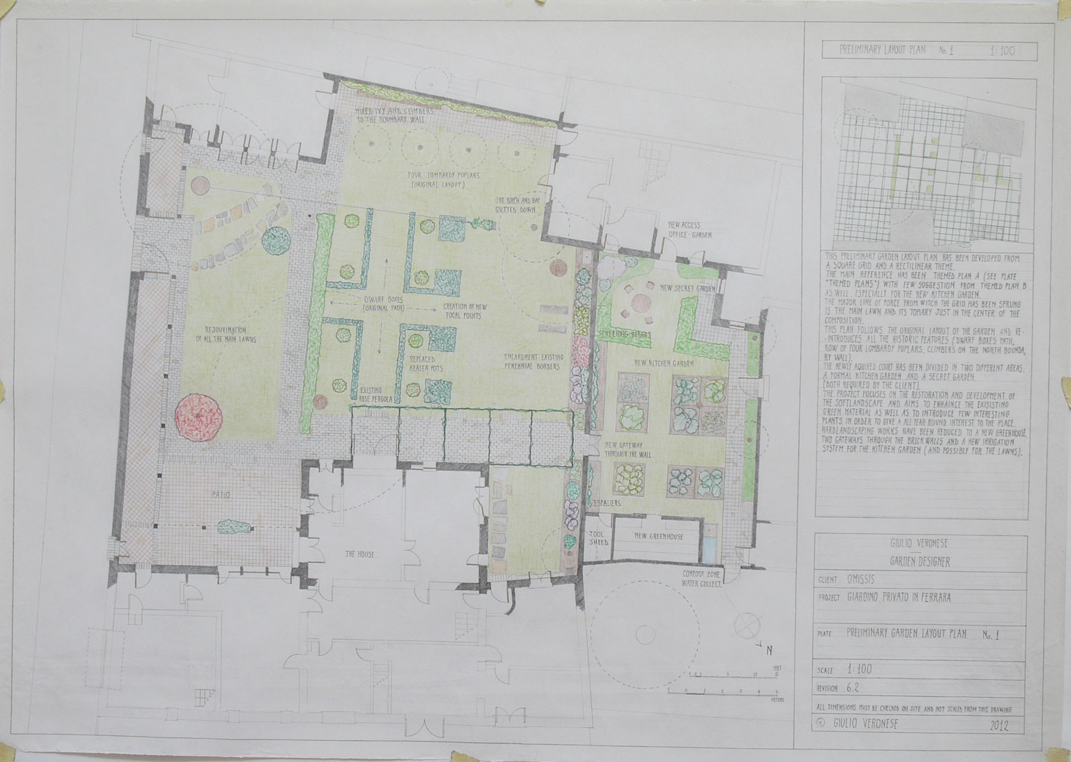 Plate 6 - Preliminary layout plan no.1