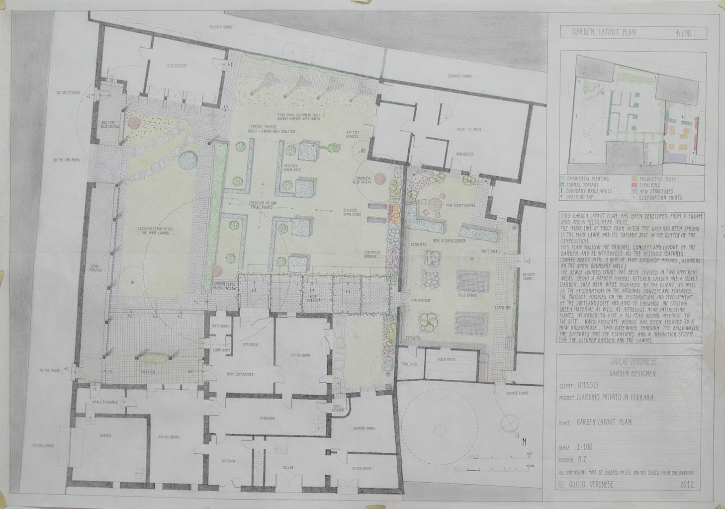 Plate 8 - Garden layout plan