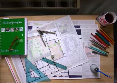Project for a private garden in Ferrara