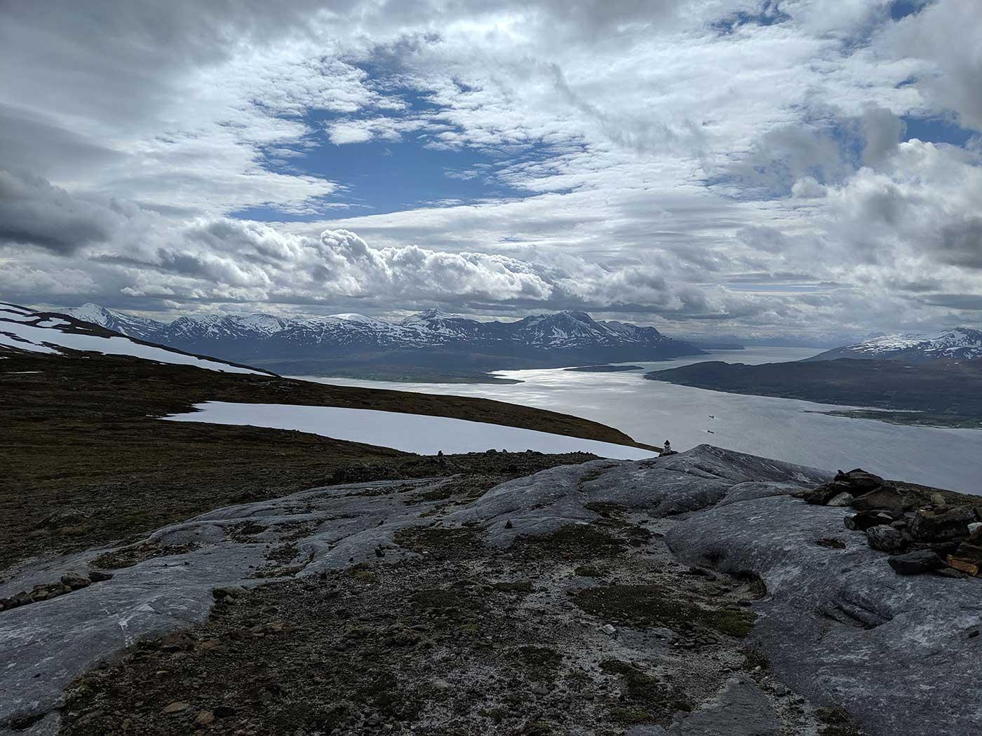 Mountaneous Panorama towering Tromso