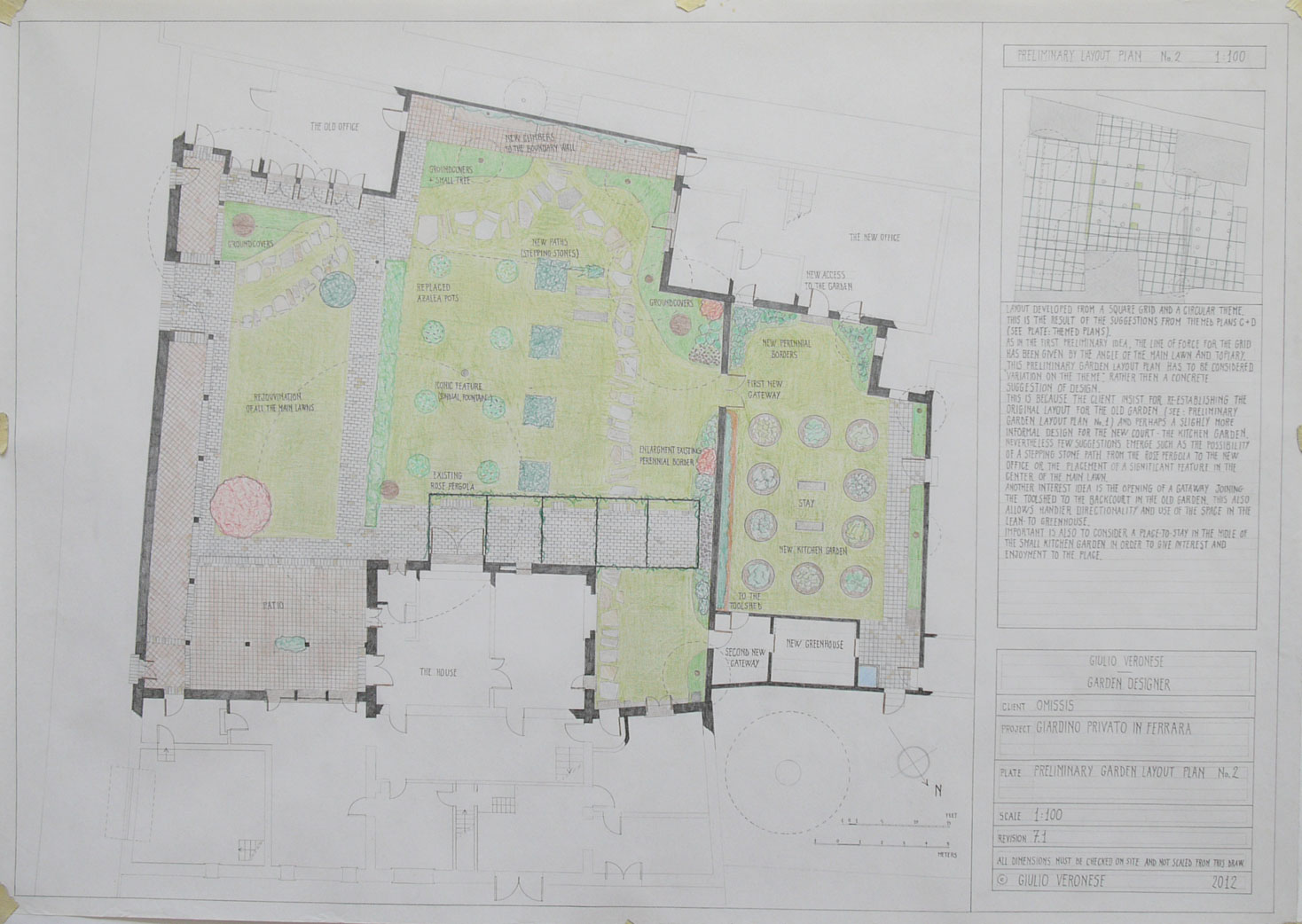 Plate 7 - Preliminary layout plan no.2